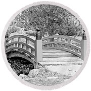Round Beach Towel featuring the photograph Japanese Garden by Rodney Campbell