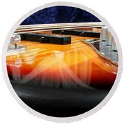 Jazz Bass Beauty Round Beach Towel by Todd A Blanchard