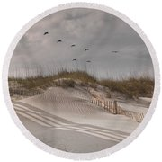 Just For You Outer Banks Nc Round Beach Towel by Betsy Knapp