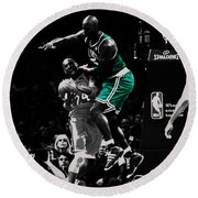 Kevin Garnett Not In Here Round Beach Towel by Brian Reaves