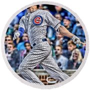 Kris Bryant Chicago Cubs Round Beach Towel by Joe Hamilton