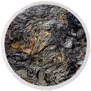 Round Beach Towel featuring the photograph Lava by M G Whittingham