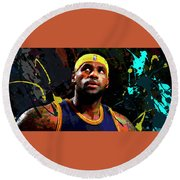 Lebron Round Beach Towel by Richard Day