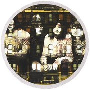 Led Zeppelin Physical Graffiti Round Beach Towel by Dan Sproul