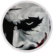Ledger's Joker Round Beach Towel by Dale Loos Jr