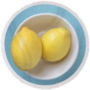 Lemon Pop Round Beach Towel by Edward Fielding