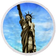 Liberty 2016 Round Beach Towel by Kd Neeley