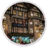 Liberty Of London Out Front Night Round Beach Towel by Mike Reid