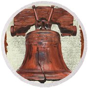 Life And Liberty Round Beach Towel by Debbie DeWitt