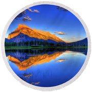 Life's Reflections Round Beach Towel by Scott Mahon