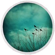 Like Birds On Trees Round Beach Towel by Trish Mistric
