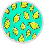 Limones De Primavera Round Beach Towel by Studio Sananikone