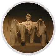 Lincoln Memorial Round Beach Towel by Brian McDunn