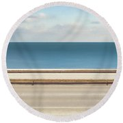 Lincoln Memorial Drive Round Beach Towel by Scott Norris