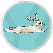 Little Bunny Rabbit Round Beach Towel by Katrina Davis