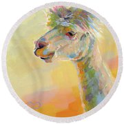 Lolly Llama Round Beach Towel by Kimberly Santini