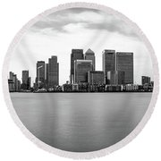London Docklands Round Beach Towel by Martin Newman