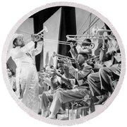 Louis Armstrong Round Beach Towel by American School