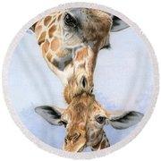 Love From Above Round Beach Towel by Sarah Batalka