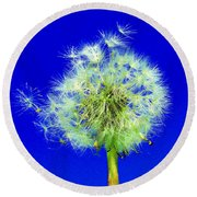 Round Beach Towel featuring the digital art Make A Wish by Rodney Campbell
