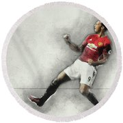 Manchester United's Zlatan Ibrahimovic Celebrates Round Beach Towel by Don Kuing