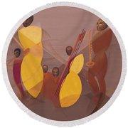 Mango Jazz Round Beach Towel by Kaaria Mucherera