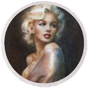 Marilyn Ww Soft Round Beach Towel by Theo Danella