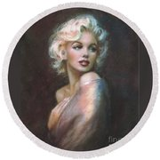 Marilyn Ww  Round Beach Towel by Theo Danella
