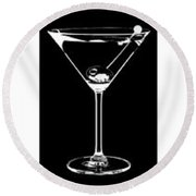 Martini Party Round Beach Towel by Jon Neidert