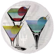 Martini Prism Round Beach Towel by Mindy Sommers