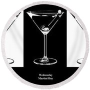 Martini Week Round Beach Towel by Jon Neidert