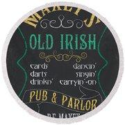 Maxey's Old Irish Pub Round Beach Towel by Debbie DeWitt