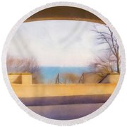 Mediterranean Dreams Round Beach Towel by Scott Norris