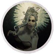 Medusa Round Beach Towel by Joaquin Abella