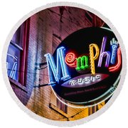 Memphis Music Round Beach Towel by Stephen Stookey