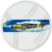 Messerschmitt Fighter Round Beach Towel by Wilf Hardy