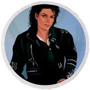 Michael Jackson Bad Round Beach Towel by Paul Meijering