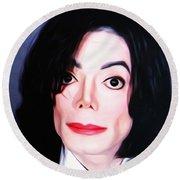 Michael Jackson Mugshot Round Beach Towel by Bill Cannon