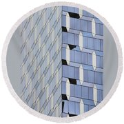 Midtown Architecture  Round Beach Towel by Sandy Taylor