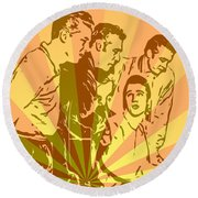 Million Dollar Quartet Pop Art Round Beach Towel by Dan Sproul