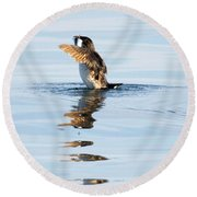 More Than A Mouthful Round Beach Towel by Mike Dawson