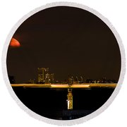 Moscow By Night Round Beach Towel by Stelios Kleanthous
