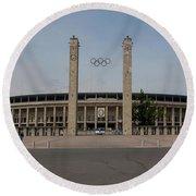 Berlin Olympic Stadium Round Beach Towel by Stephen Smith