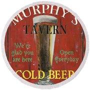 Murphy's Tavern Round Beach Towel by Debbie DeWitt