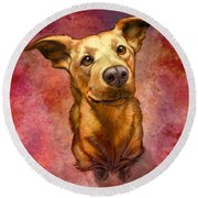 My Buddy Round Beach Towel by Sean ODaniels