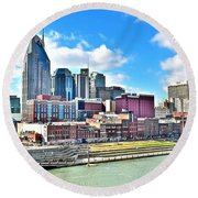 Nashville Eight By Ten Round Beach Towel by Frozen in Time Fine Art Photography