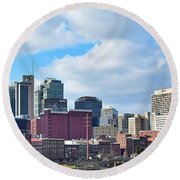 Nashville Panorama View Round Beach Towel by Frozen in Time Fine Art Photography