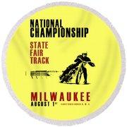 National Championship Milwaukee Round Beach Towel by Mark Rogan