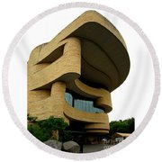 National Museum Of The American Indian 1 Round Beach Towel by Randall Weidner