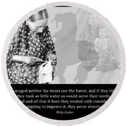 Round Beach Towel featuring the photograph Native American Legacy And The Land by A Gurmankin